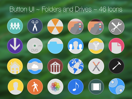 Button UI ~ System Folders and Drives by BlackVariant