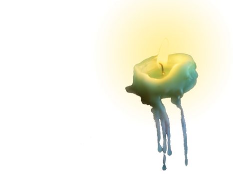 Melted candle - PNG by velvet-skies-STOCK