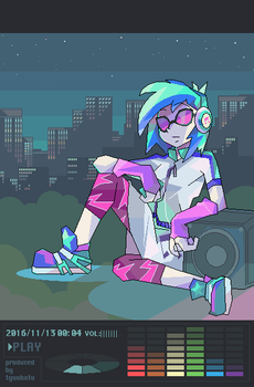 Music at night by tyuubatu