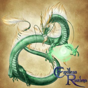Endless Realms bestiary - Jade Dragon by jocarra