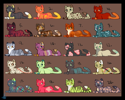 Cheap Kitteh Adopts!! -CLOSED- by Bluefire-kitteh
