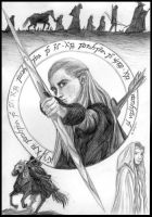 Lord of the Rings card by Deathscent