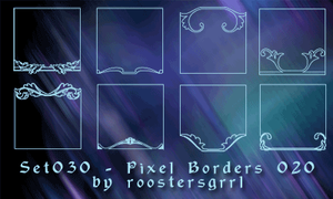 Set030 - Pixel Borders 020 by by wolfgrrlone