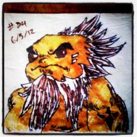 Napkin Art #34 - Fire Sage Darunia - LoZ by PeterParkerPA