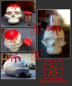 Untitled  Skull and Candle by Hemamal