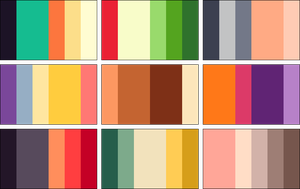 color palettes! by RRRAI