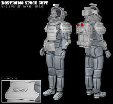 SpaceSuit from the Nostromo - Alien (1979) by STLegends