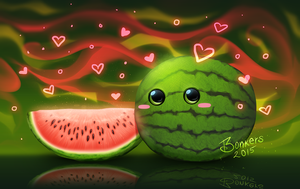 Kawaii Melon by BonkiHart