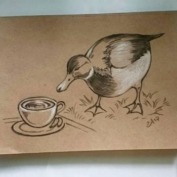 Instaart - Curious Duck by Candra