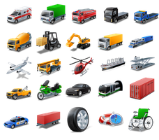 Vista Style Transport Icon Set by FreeIconsFinder