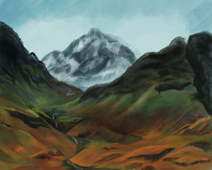 Landscape Speed Paint Study by PasitheeArt