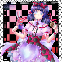 Marinette in Wonderland by ScruffyPoop