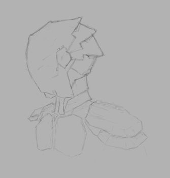 Suit Bust Sketch by qwertydew