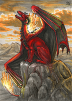 ACEO for XeyHarpyie by Dragarta