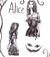 Alice Sketches by LJEvo