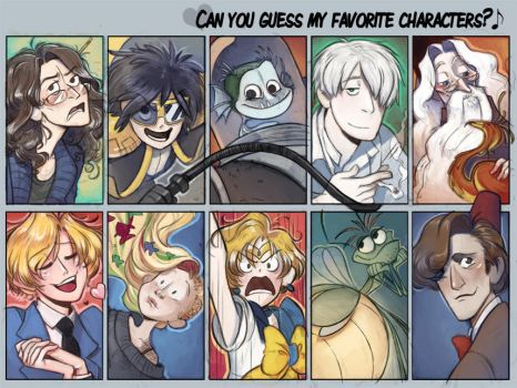 Favorite characters meme by otherwise