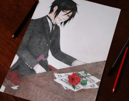 His butler, pianist by JessicaHirano