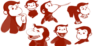 Curious George Facial Gestures by RavenousFire