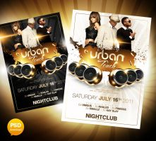 Urban Touch Party Flyer PSD by Party-Flyer