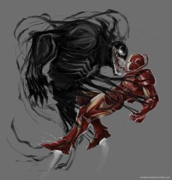 Iron man vs Venom by maXKennedy