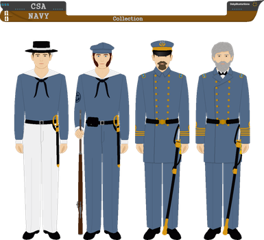 CSA Navy Collection by DakyIllustrations