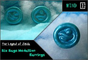 Zelda Medallion Earring Wind by Riomy