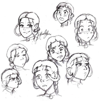 Katara Sketches by KTorresArt