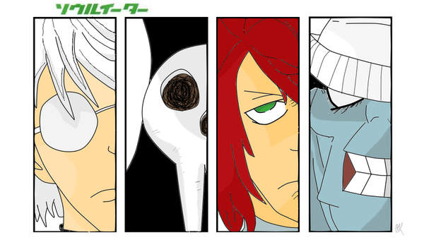 Soul Eater Character Panels by MyNameIsGrey