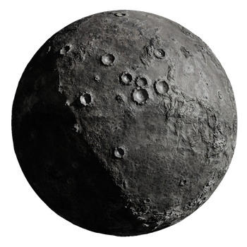 Cratered Planetoid Stock by Hameed