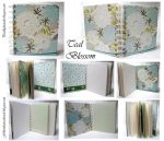 Teal Blossome Tissue- junk journal by Pearllight180