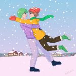 May and Drew in the snow by AlienLiaru