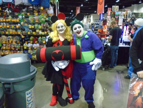Mickey and Minnie Mouse Joker and Harley by AJTalon