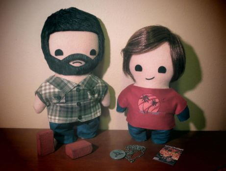 the last of us joel and ellie plush set! by viciouspretty