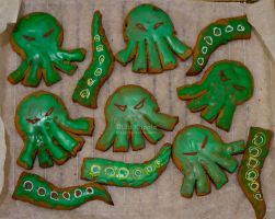 Tentacle And Cthulhu Cookies by ukapala