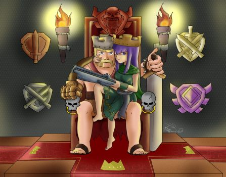 Clash of Clans The King and Queen by Tanyhey
