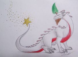 Christmas Dragon by WyvernFlames