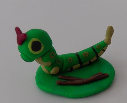 Clay Caterpie by phraxdust