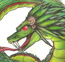Quetzalcoatl sketch by Giosuke