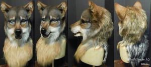 Wolf Couple Head A by Magpieb0nes