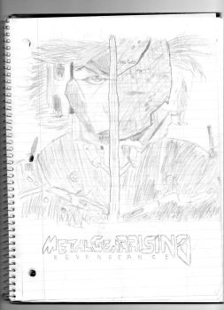 Sketch: Raiden (Metal Gear Rising - Revengeance) by spiral6sm