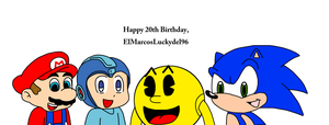 Video game icons wishing Happy Birthday to me by MarcosPower1996