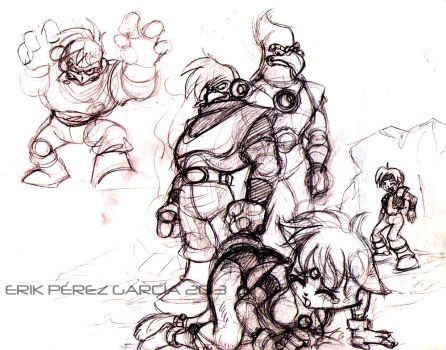 Lilu and Ruy in problems!!! sketch by ERIK96