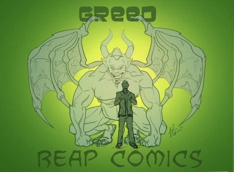 WIP of Greed from Reap Comics commission by JennyGorman