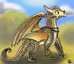 Queen Thorn of the SandWings by Draggirlmon