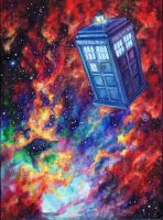 TARDIS in space by starwilliams