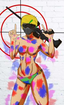 Hannah: Paintballing by Abdomental