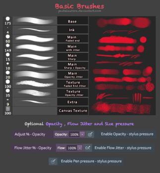 Basic Painting Brushes - Photoshop by Pearlpencil
