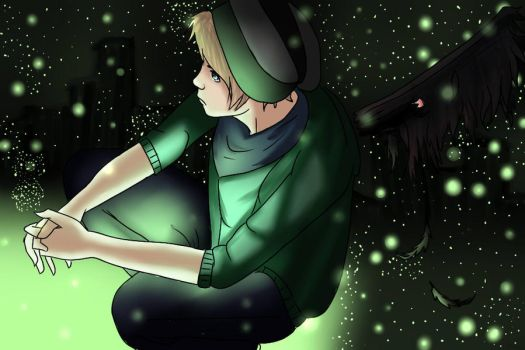 Boy with wings or something :D by Chaii0x0x