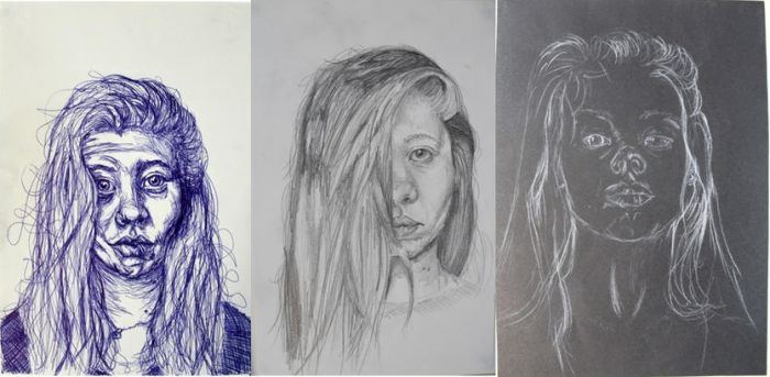 Self portraits by 12LucyJ34
