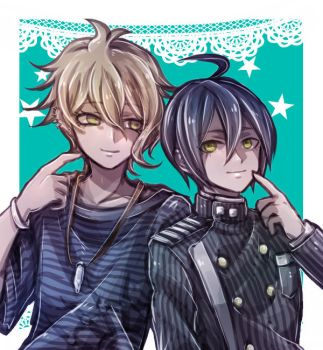 Amami and Saihara by riyuta